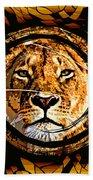 Lioness Face Bath Towel