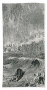 Lisbon Tsunami, 1755 Bath Towel