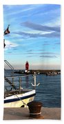 Little Red Lighthouse Hand Towel