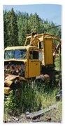 Logging Truck 2 - Burke Idaho Ghost Town Bath Towel