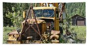 Logging Truck - Burke Idaho Ghost Town Bath Towel