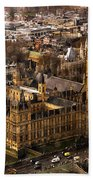 London From The London Eye Bath Towel