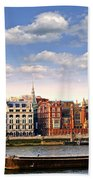 London Skyline From Thames River Hand Towel