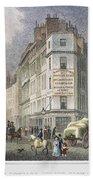 London: Street Scene, 1830 Bath Towel