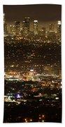 Los Angeles  City View At Night  Bath Towel