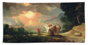 Lot Fleeing From Sodom Hand Towel