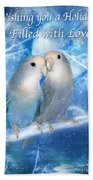 Love At Christmas Card Bath Towel
