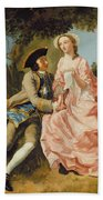 Lovers In A Landscape Bath Towel