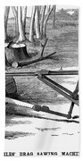 Lumbering: Saw, 1879 Bath Towel