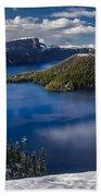 Luminous Crater Lake Hand Towel