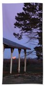 Lunar Eclipse At The Farm Bath Towel