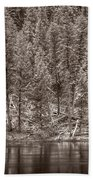 Madison River Yellowstone Bw Bath Towel