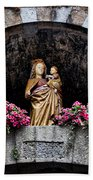 Madonna And Child Arch Bath Towel