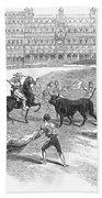 Madrid: Bullfight, 1846 Bath Towel