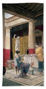 Maidens In A Classical Interior Bath Towel