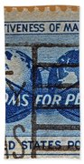 Mail Early For Christmas And Peace Bath Towel