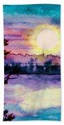 Maine October Sunset Bath Towel