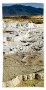 Mammoth Hot Springs Terraces Bath Towel