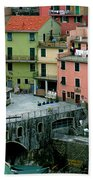 Manarola Houses On The Cinque Terre II Bath Towel