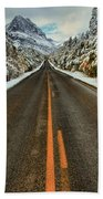 Many Glacier Road Bath Towel