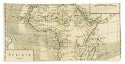Map Of Africa Bath Towel