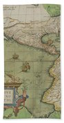Map Of North And South America Hand Towel