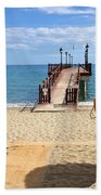Marbella Beach In Spain Hand Towel