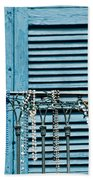 Mardi Gras Beads Bath Towel