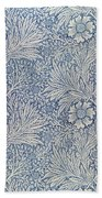 Marigold Wallpaper Design Bath Towel