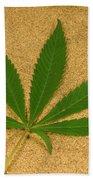 Marijuana Leaf Bath Towel