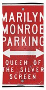 Marilyn Monroe Parking Bath Towel