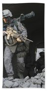 Marines Conduct Combat Operations Bath Towel