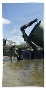 Marines Lower An Improved Ribbon Bridge Bath Towel