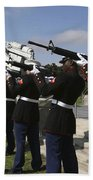 Marines Practices Drill Movements Hand Towel