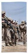 Marines Verify The Battle Sight Zeroes Bath Towel