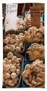 Market Mushrooms Bath Towel