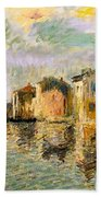 Martigues In The South Of France Bath Towel