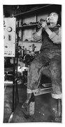 Mary Loomis, Radio School Operator Hand Towel