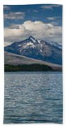 Mcdonald Lake Super Panorama Bath Towel