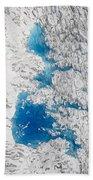 Meltwater Lakes On Hubbard Glacier Bath Towel
