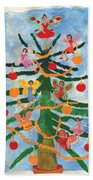 Merry Christmas Tree Fairies In Progress Bath Towel