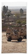 Military Vehicles Parked Outside Loy Bath Towel