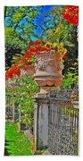 Mirabell Gardens In Salzburg Hdr Bath Towel
