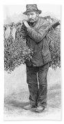 Mistletoe Gatherer, 1894 Bath Towel
