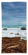 Moeraki Boulder East Coast Of South New Zealand Bath Towel