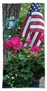 Mom's Pink Geranium  Bath Towel