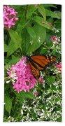 Monarch In The Garden   Bath Towel