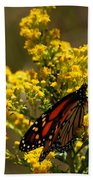 Monarchs On Yellow Bath Towel