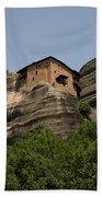 Monastery Of Saint Nicholas Anapafsas Bath Towel
