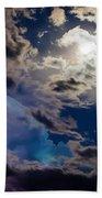 Moonlit Clouds With A Splash Of Lightning Bath Towel